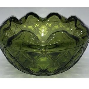 Indiana Glass Duette Diamond Quilted Crimped Bowl